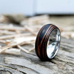 Titanium Wood Wedding Band Ring with Ebony & Mahogany by MrDaeSeok, $138.00: Wood Wedding Band, Style, Wedding Band Rings, Second Life, Wooden Rings, Life Wooden, Wood Rings, Wood Wedding Rings