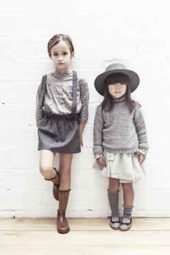 #tocotovintage #fw15: Little Girls, Kids Style, Tocotovintage Fw15, Kids Fashion, Grey Outfit, Tocoto Vintage, Vintage Girls, Girl Flannel