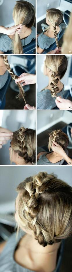 Top 10 Long Hair Tutorials for Night Out: Milkmaid Braid, Braided Crown Tutorial, Hairstyles, Hair Tutorials, Hair Styles, Crown Braids, Long Hair, Braid Crown