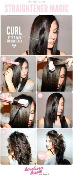 Trendy And Hot 16 Hair Tutorials For Your Hairstyle: Flat Irons, Hair Ideas, Make Up, Hairstyles, Hair Styles, Makeup, Hair Tutorial, Curls, Flatiron
