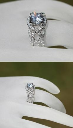 TWIST OF FATE 14k White gold Diamond by BeautifulPetra on Etsy, $4,500.00: Diamond Engagement Rings, Fate 14K, Bloomingroserings Twistoffate, Dream Ring, Wedding Ideas, Dream Wedding, Wedding Rings, White Gold Diamonds