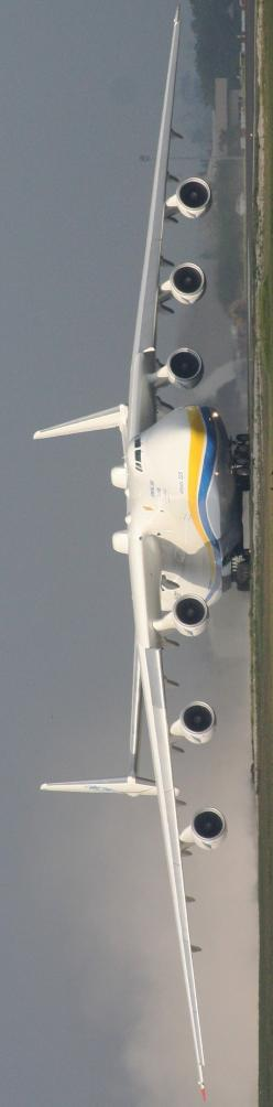 Ukrainian Antonov a massive monster, It is powered by six turbofan engines and is the largest airplane in the world; it is the heaviest aircraft with a maximum takeoff weight of 640 tonnes: Airplanes Jets, Jets Planes Aircraft, Aircraft, Largest Airplane,