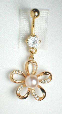 Unique Belly Ring  9K GF Flower with CZ'S and a by pondgazer2004, $14.95: Belly Button Peircing, Belly Piercing, Unique Belly Button Ring, Navel Piercing, Unique Belly Rings, Bellybutton Piercing