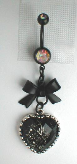 Unique Belly Ring - Black Bow and Heart. $10.95, via Etsy.: Belly Piercing, Heart, Etsy, 10 95, Unique Belly Rings, Black Bows, Unique Belly Button Rings, Bellybutton Rings, Bellyrings
