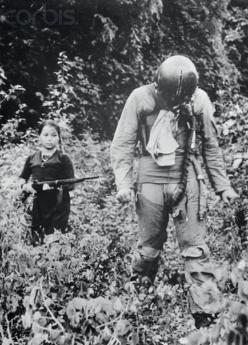 US Air Force First Lieutenant being held captive by a young North Vietnamese girl, Vietnam War, 1967: Girls, Vietnam War, Held Captive, Us Air Force, Force Lieutenant, North Vietnamese