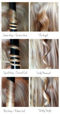 Use these different rolling techniques to get the kind of curl you want. | 29 Hairstyling Hacks Every Girl Should Know: Hair Ideas, Types Of, Hairstyles, Hair Styles, Curls, Different Curl, Curling Iron