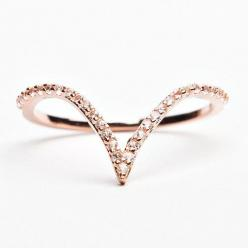 V Ring - Rose Gold | Alex Mika Jewelry: Rose Gold Jewelry Rings, Mika Jewelry, Wedding Band, Roses, Jewels, Rose Gold Jewellery, Products, Rose Gold Rings