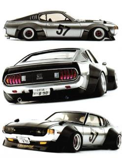 (via AUTOnGRAPHIC: Kaido Racer Modeling Vol. 7): Style, Ra28 Gt2000, Toyota Celica, Art, Auto, 2000 Gt, Japanese Cars