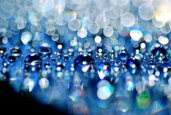 water droplet bokeh: Bokeh Photography, Water Drops, Beautiful Blue, Color, Macro Photography, Sparkle, Dew Drops, Water Droplets, Photography Inspiration