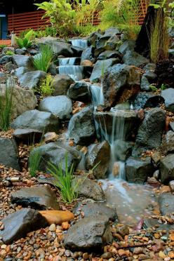 Waterfall created by Waterscapes Australia. #WaterfallWednesday: Waterscapes Australia, Land Scaping, Garden Ponds, Waterfallwednesday, Natural Swimming Ponds, Garden