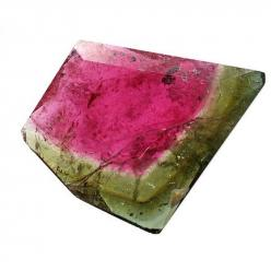 Watermelon Tourmaline is a rare variety that displays three different colors in the same crystal - It encourages a calm, centered state of mind.: Crystals, Gemstones, Nature, Color, Watermelon Tourmaline, Rocks, Minerals