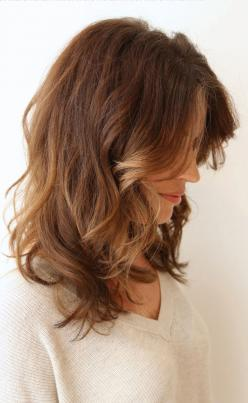 Waves mid length. Going to have this cut one day!: Hairstyles Haircuts, Hairstyles For Medium Hair, Waves Mid, Fashion Hairstyles, Length Hair, Long Bobs, Hair Color