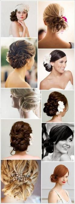 Wedding Hairstyles Inspiration: Hair Ideas, Hairstyles, Hairdos, Hair Styles, Wedding Ideas, Updos, Hair Do, Side Bun