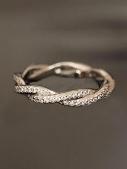 Wedding Inspiration | Wedding Rings love the twisting: Wedding Ring, Eternity Band, Wedding Band, Rings, Engagement Ring