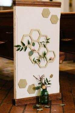 Wedding Stationery Inspiration: Hexagons | Photo: Kimberly Michelle Gibson Photography via Ruffled: Inspiration, Weddings, Hexagons, Geometric Decor, Aisle Decor, Photo, Geometric Aisle, Wedding Ceremony