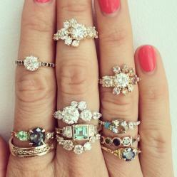 #WedPin #AAWEP #Wedding: Jewel, Mociun Rings, Custom Designed, Middle Finger, Beautiful Rings, Black Diamond, Designed Rings, Engagement Rings