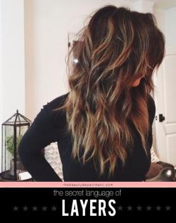 Which type of layered hairstyle best suits you? Different types of layers | Where has this been hiding? I needed this article years ago!: Hair Colors, Hairstyles, Hair Styles, Haircolor, Long Hair, Hair Cut