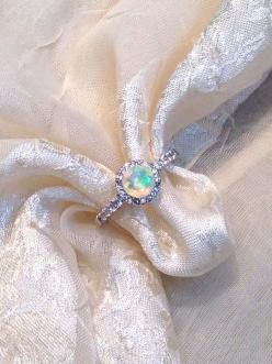 White+Opal+Ring+or+Ring+Solitaire+by+NorthCoastCottage,+$189.00: Opal Rings, Engagement Ring Solitaire, Engagement Ring Opal, Celebrity Engagement Ring, Opal Engagment Ring, Opal Wedding Ring, Wedding Rings, Opal Engagement Rings