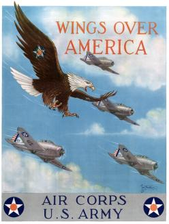 Wings Over America. U.S. Army Air Corps,: Army, Wwii, America, Wings, War Ii, Ii Poster, Air Corps, Posters