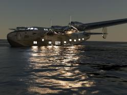 """Wow! """"LIghts or no lights, this would have been the way to travel."""" KB: Aviation, Flying Boats, Airplane, Aircraft, Planes"""