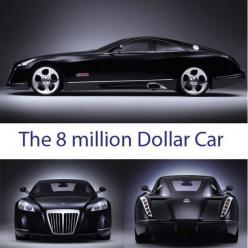 WOWSERS!!! The 8 million dollar car. Officially the world's most expensive car, this Maybach would make any luxury penthouse owner jealous. This is 100% pure 'extravagopulence.' #spon YOU HAVE TO SEE THIS!: Maybach Exelero, Rides, Luxury Cars,
