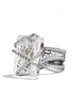 Wrapped in love. With a cushion cut not emerald cut. Love this !!!: David Yurman, Crystals, Wedding, Diamond, Cable Wrap, Wraps, Engagement Rings, Bling Bling