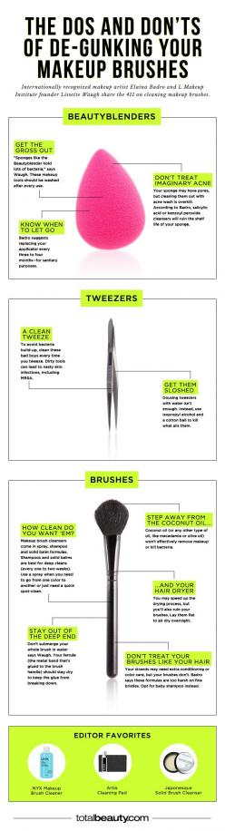 You're Making These Mistakes When Cleaning Your Makeup Brushes #beauty #tools #beautytools: Cleanmakeupbrushes, Makeup Tools, Makeup Tips, Makeup Brushes, Clean Makeup Brush, Makeup Brush Cleaning, Clean Make Up Brush, Beauty Tools