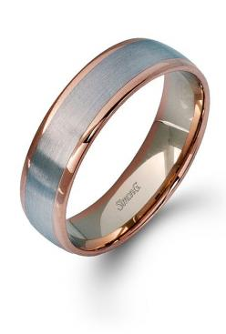 14K rose gold and 14K white gold men's wedding band - both rings with the same metals!!: Mens Wedding Band, Mens Rose Gold Wedding Band, Men Wedding Bands, Wedding Rings, Men Wedding Ring, Mens Wedding Ring