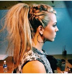 25 Hairstyles for Spring 2015: Preview the Hair Trends Now - PoPular Haircuts: Braids Hairstyles, Wedding Hairstyles Ponytail, 2015 Nail Trend, Badass Hairstyle, Edgy Hairstyle, Rocker Hairstyle, Hairstyles With Braids