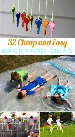 32 Cheap And Easy Backyard Ideas That Are Borderline Genius #backyardinspiration #backyardfun #32ideas: Easy Backyard, Backyard Ideas, Borderlinegenius, Craft, Borderline Genius, Kids Outdoor, Fun Ideas, Summer Fun