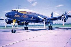 """Blue Angels"" Lockheed C-121J circa 1969/1970. My father flew this same airplane during the same dates. When this aircraft was phased out it was replaced by the Marines C130 which is current today.: Father Flew, 34 Blue Angels 34, Constellations,"