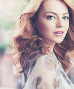 """""""I can't think of any better representation of beauty than someone who is unafraid to be herself."""" Lovely thought, Emma.: Emma Stone, Celeb, Beautiful, Beauty, Stones, Hair Color, People"""