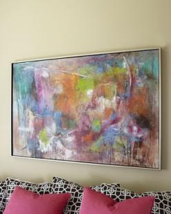 """Seville"" Abstract Painting by John-Richard Collection at Horchow. - This would be so cool over the bed in the master - pulls all colors in.: Wall Art, John Richard Collection, Abstract Giclee, Abstract Art, Color, Seville Abstract, Living Room, A"