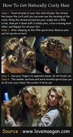 """""""You can also easily curl your hair overnight without an iron""""... and other lazy beauty routine additions.: Hair Ideas, Hairstyles, Hair Styles, Makeup, Hair Tutorial, Curls, Naturally Curly Hair, Beauty"""