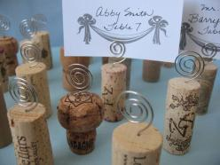 50 Wine Cork Place Card Holders Place Cards by mendydensadesigns, $45.00: Place Card Holders, Cork Place Cards, Wedding Ideas, Cards Wedding, Corks, Cork Ideas, Places, Placecards