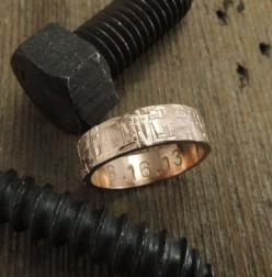 6mm 14k Rose Gold Mens Wedding Band Rugged by PointNoPointStudio, $735.00: 735 00 Mensweddingring, Alliance, 14K Rose, Rose Gold Wedding Band Men, Mens Rose Gold Wedding Band, Rose Gold Rings For Men, Mens Wedding Bands Rose Gold, Handmade Wedding Rings,