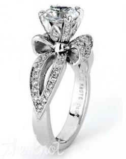 A bow diamond ring, my heart just stopped a little when I saw this: The Knot, Wedding Ring, Diamond Rings, Wedding Ideas, True Knots, Bows, Dream Wedding, Bow Rings, Engagement Rings
