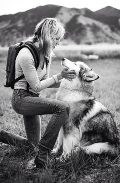 A guy tried to tell me one time that women dont understand the connection men have with their dogs.  It's the strongest bond Ive ever felt. Thats what I know.: Adventure Dog, Best Friends, Hiking Girl, Husky, Hiking With Dog, Animal