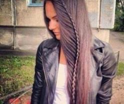 A pretty cool braid idea for those with long hair. We'd throw on some fem drop earrings to balance the edge: Hair Ideas, Hairstyles, Hair Styles, Long Hair, Braid, Braids, Beauty