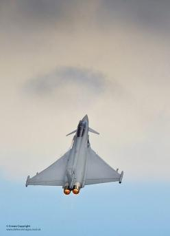 A Royal Air Force Typhoon performing an air display at RAF Coningsby.: Fighter Jets Air Force, Military Aircraft Jets, Air Force Planes, Pointed Jets, Fighter Jets Military Aircraft, Aviation Jets, Military Jets Air Force, Air Force Jets, Military Airplan