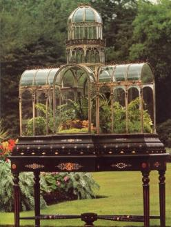 A victorian case to end all victorian cases.  I'm sure this must belong to someone in the royal family.: Ideas, 19Th Century Wardian, Terrariums, Greenhouse, Gardening, Gardens, Wardian Cases, Flower