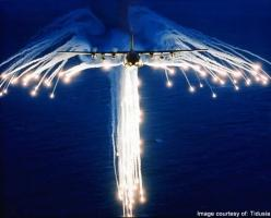 "AC-130 Spectre Gunship ""Releasing Angel Wing Flares"": Angel Flight, Aviation, Angel Flare, Military Aircraft, Air Force, Photo"