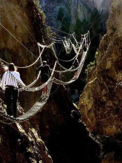 Amazing Bridges -Tibetan bridge in Piedmont, Italy: Bucket List, Adventure, Piedmont, Places, Travel, Bridges, Walk, Italy