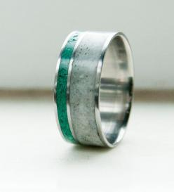 Antler and Jade Mens wedding band. I know this says it's a men's ring, but I want it! so beautiful!: Wedding Ring, Men Wedding Bands, Jade Wedding, Jade Ring, Rings
