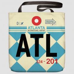 ATL - Tote Bag Hartsfield-Jackson Airport - Atlanta - Georgia, USA: Atlanta Georgia, Airports, Airport Throw, Airport Tote, Throw Pillows, Products
