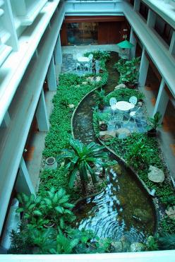Atrium or courtyard garden -- indoor garden, via Flickr. * idea for the back off the deck in Az: Interior, Idea, Dream, Water Features, Courtyard Gardens, Indoor Garden, Water Garden