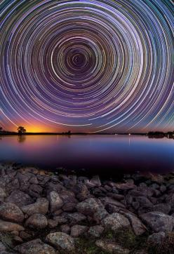 Australian photographer Lincoln Harrison captures long exposures of gorgeous star trails in the night sky above the Australian outback: Photos, Nature, Stars, Lincoln Harrison, Long Exposure, Night Sky, Photography