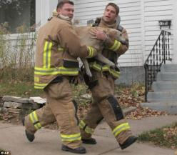 """Awesome Firefighters Revive Dog From House Fire  