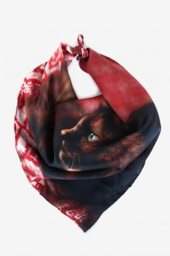 Awww, the little kitty face!: Style, Kitten Handkerchief, Kittens, Handkerchiefs, Contemplative Kitten, Scarf, Products, Cat Lady