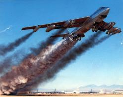 B-47 Stratojet rocket-assisted takeoff---All's good tower...Just gotta blow a little smoke out my tail. ;): Aviation, Military Aircraft, Air Force, Rocket Assisted, Airplane, Planes, Photo